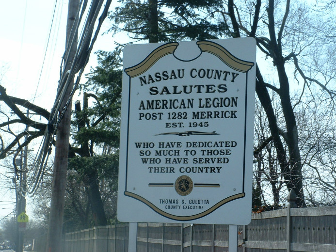 Dedication Sign for the Veterans Park