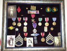 Frank DePergola medals from war